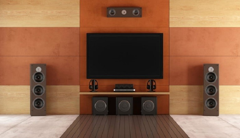 Home Theater Speaker Installation