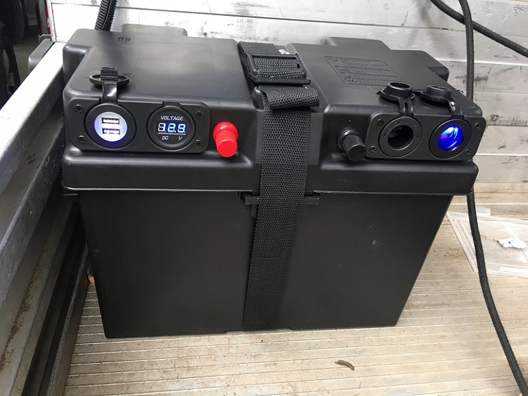 travel trailer dual battery box 2