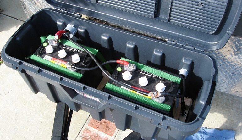 travel trailer dual battery box