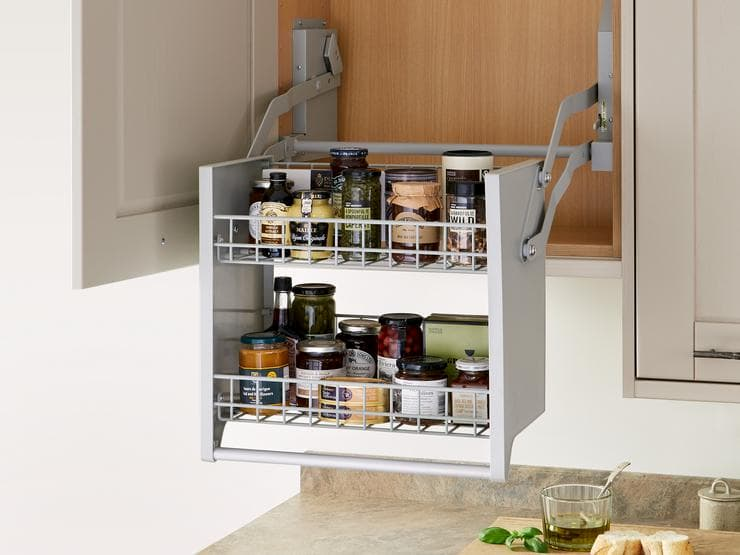 pull down shelf storage