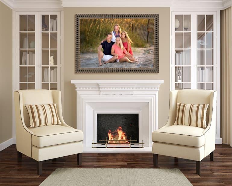 family portrait-fireplace