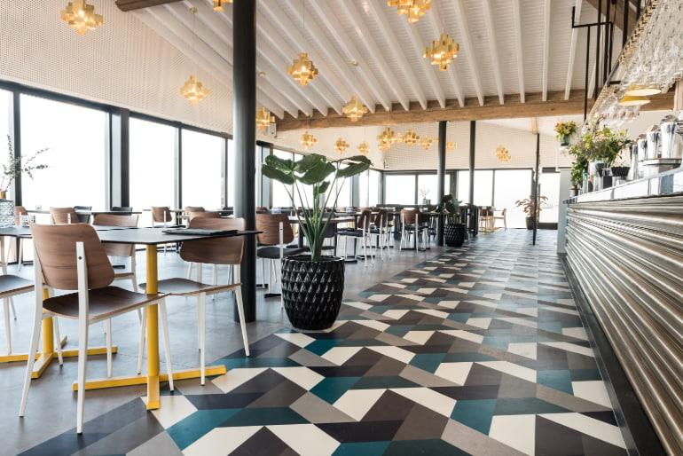 vinyl flooring cafe