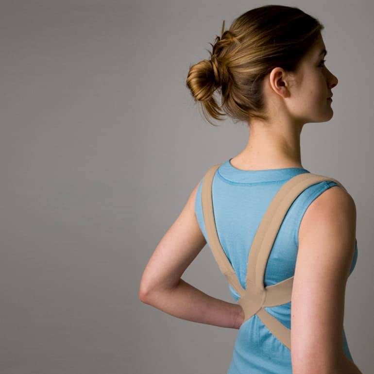 girl with a shoulder brace