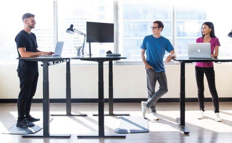 office height adjustable standing desk
