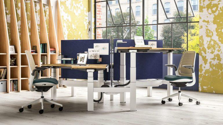ology bench adjustable computer desk