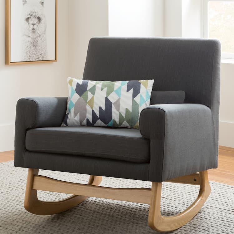 grey modern rocking chair
