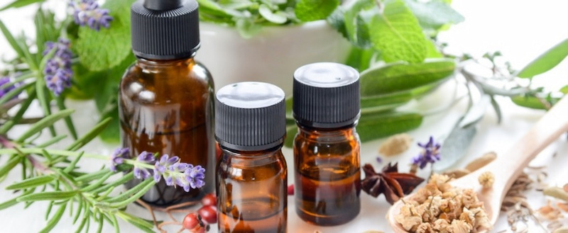 essential-oils-in-glass-bottle