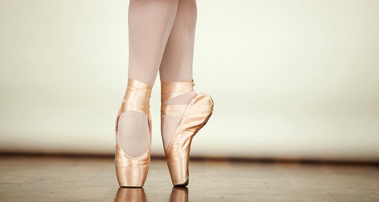Ballet dancing shoes