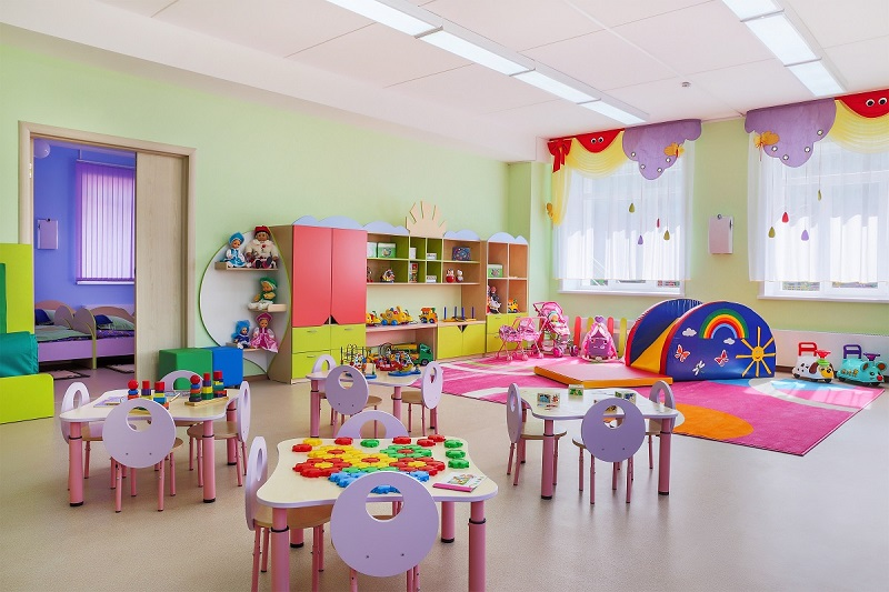 decorated classroom