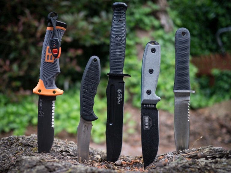 Types of fixed hunting knives