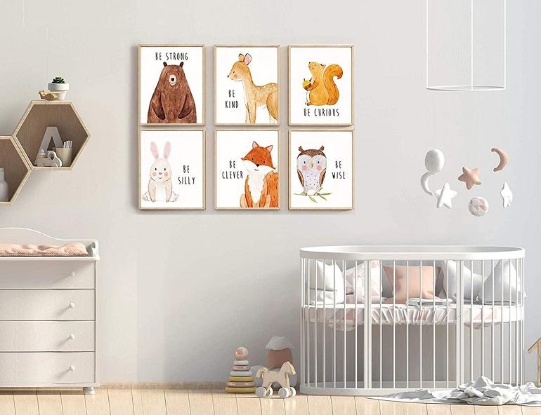 Animal nursery posters