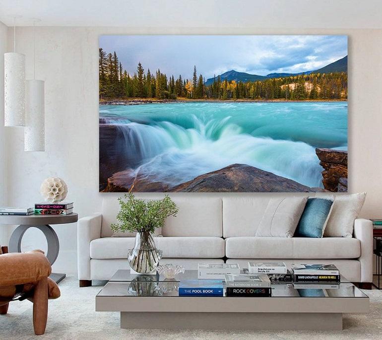 Waterfall teal artwork
