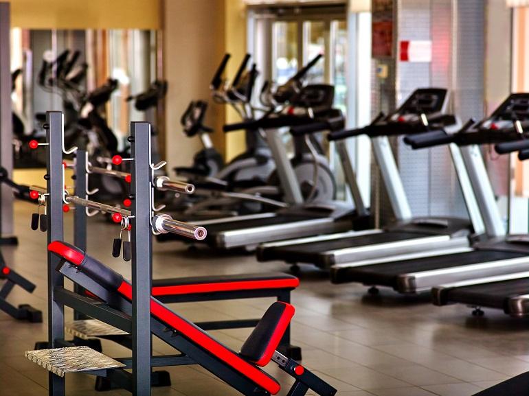 close-up of high quality gym equipment